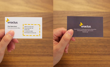 Business Cards As A Recruitment Tool  >> On Your Campus See Opportunity